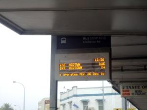 Painel horário de ônibus